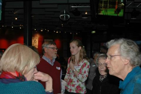 Borrel in het Sportcafé